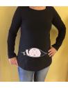 "Camiseta embarazada ""Bebé cremallera"""